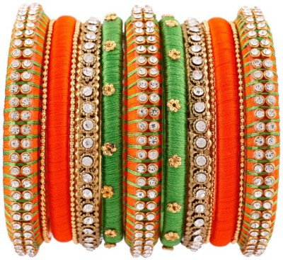 Jeevi Krish Creations Silk Dori Bangle at flipkart