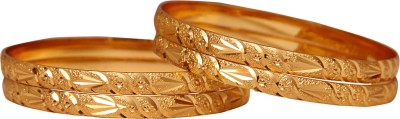 Jewbang Alloy Yellow Gold Bangle Set(Pack of 4) at flipkart