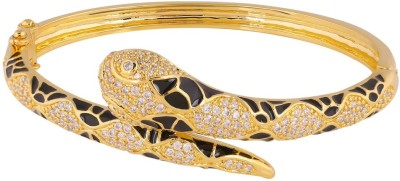 Shaze Brass Cubic Zirconia 18K Yellow Gold Bangle at flipkart
