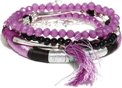 Dressberry Metal Crystal Enamel Bracelet(Pack of 4) at flipkart