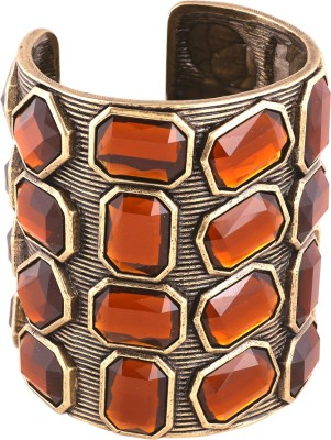 Shaze Brass Crystal Rhodium Cuff at flipkart