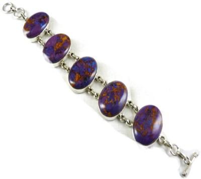 Miska Silver Silver Amethyst Silver Bracelet at flipkart