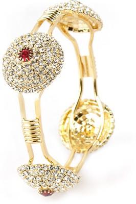 VK Jewels Brass Diamond Gold-plated Bangle at flipkart