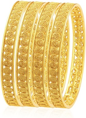 Sukkhi Alloy 18K Yellow Gold Bangle Set(Pack of 4) at flipkart