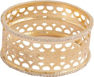 Grace Jewels Alloy Swarovski Crystal Yellow Gold Kada at flipkart