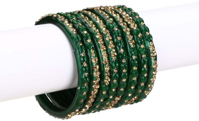 Somil Glass Crystal Bangle Set(Pack of 8) at flipkart