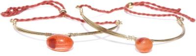 Anouk Metal Crystal Enamel Bracelet(Pack of 2) at flipkart