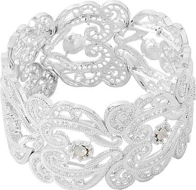 Voylla Alloy Cubic Zirconia Silver Bracelet at flipkart