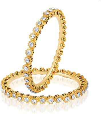 VK Jewels Alloy Yellow Gold Bangle Set(Pack of 2) at flipkart