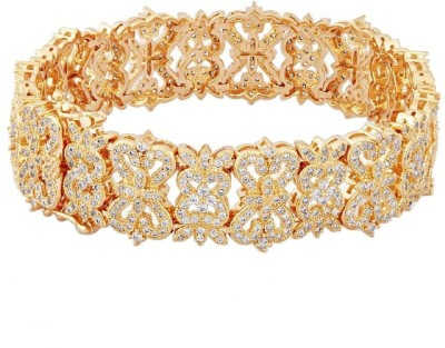 Shaze Brass Chalcedony Yellow Gold Bangle at flipkart