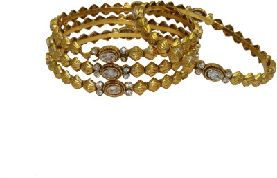 Aarnaa Copper Gold-plated Bangle Set(Pack of 4) at flipkart
