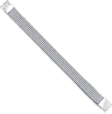 VK Jewels Rubber Diamond Rhodium Bracelet at flipkart