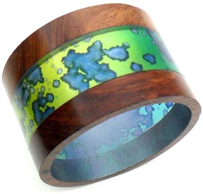 Beadworks Resin, Wood Bangle at flipkart