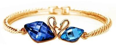Fashionforsure Alloy Swarovski Crystal 18K Yellow Gold Bracelet at flipkart