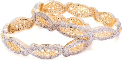 Voylla Alloy Cubic Zirconia Bangle Set(Pack of 2) at flipkart