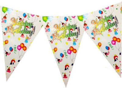 Planet Jashn Planet Jashn Happy Birthday Kids with Balloon Buntings Pennant Flag(8 ft, Pack of 1)