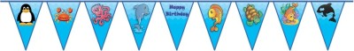 Untumble Flag Bunting For An Underwater / Ocean Theme Birthday Pennant Banner(10 ft, Pack of 1)