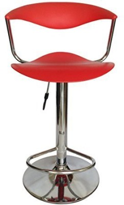 Mavi Half-leather Bar Stool(Finish Color - Red)