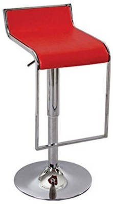 Mavi Leatherette Bar Stool(Finish Color - Red)