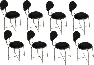 Mavi Leatherette Bar Chair(Finish Color - Black)