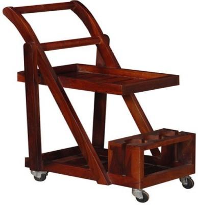 Ringabell Trolley Solid Wood Bar Trolley(Finish Color - Honey Oak)
