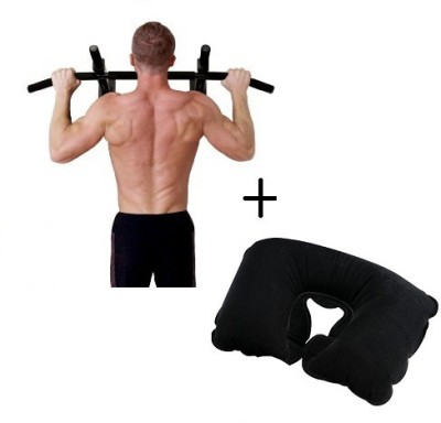 IBS Push Wall Mount Door Chin Iron Hanging Height Increaser Workout Biceps Triceps Home Iron Gym Frames With Neck Pain Relief Cervical Travel Pillow Support Pull-up Bar(Black)  available at flipkart for Rs.1998
