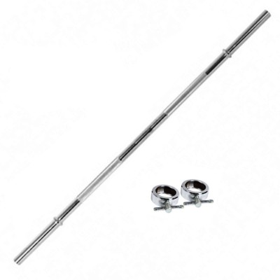 GB 3 FT Straight Rod Weight Lifting Bar Silver