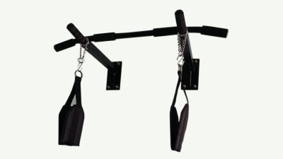 Mh Jim Equipments Pull Up Bar With Heavy Duty Ab Strap Pull up Bar Black Mh Jim Equipments Bars