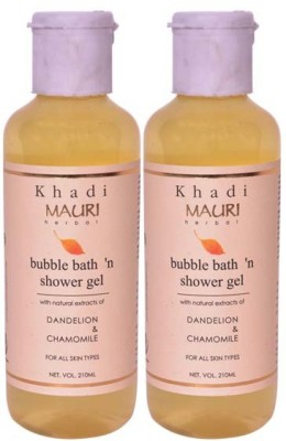 Khadi Mauri Shower Gel - Pack of 2 - Premium Herbal Ayurvedic(420 ml)