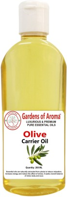Gardens Of Aroma Pure Organic Natural Cold Pressed Olive Carrier Oil(225 ml)