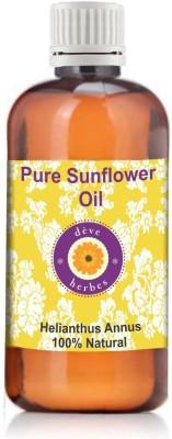 Deve Herbes Pure Sunflower Oil 100ml (HelianthusAnnuus)(100 ml)  available at flipkart for Rs.213
