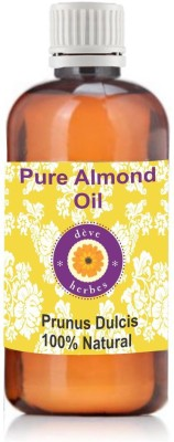 Deve Herbes Pure Almond Oil 50ml (Prunus Dulcis) 100% Natural Cold Pressed(50 ml)  available at flipkart for Rs.192