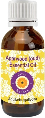 Deve Herbes Pure Agarwood (Oud) Essential Oil 2ml (Aquilaria agallacha)(2 ml)