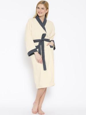 Welhome by Welspun Beige Large Bath Robe(1 Bath Robe, For: Men & Women, Beige) at flipkart