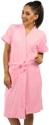 Red Rose Pink XL Bath Robe(Package Contents- 1 Bathrobe, For: Women, Pink) at flipkart