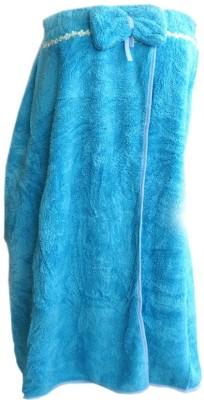 Muren Blue Free Size Bath Robe(1 Bath Robe Cum Bath Wrap, For: Women, Blue) at flipkart