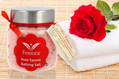 Femora Natural Rose Flavored Bathing Epsom Salt - 250 gms(250 g)