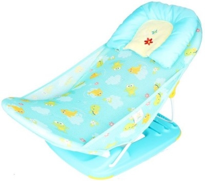 Creative India Exports Frog and Fish print Soft Fabric Cradle Baby Bath Seat(Multicolor)