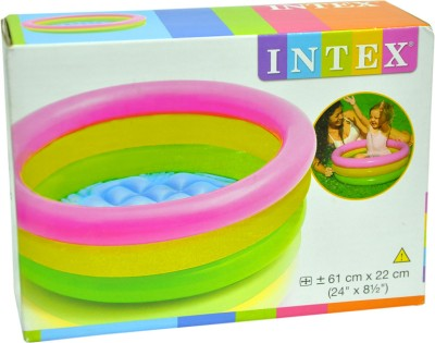 20 Off On Intex Water Tub Inflatable Pool 2ft Diameter Baby Bath Seat Multicolor On Flipkart