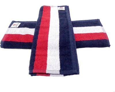 Swiss Military Cotton Hand Towel Set(Pack of 2, Blue) at flipkart