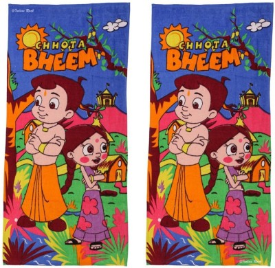 Chhota Bheem Cotton Terry Bath Towel(Pack of 2, Multicolor)