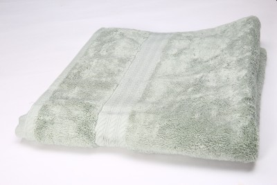 Annapoorna Apparels Cotton GSM Bath Towel(Green) at flipkart