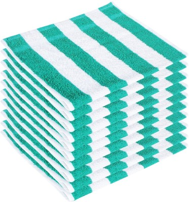 Earth Ro System Cotton Bath Towel(Pack of 10, White, Green) at flipkart