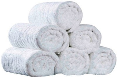 SIDHIVINAYAK ENTERPRISES Cotton 300 GSM Hand Towel Set(Pack of 6, White) at flipkart