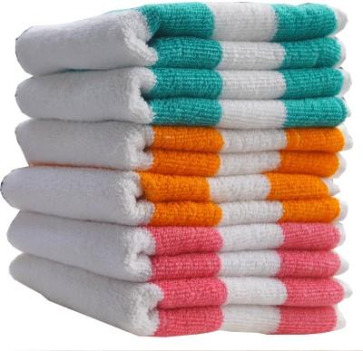 Fashiza Cotton Terry 360 GSM Hand Towel Set(Pack of 6, Green, Orange, Pink) at flipkart
