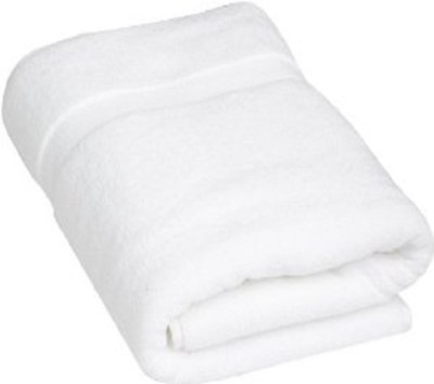 P.S Decor Cotton Terry 350 GSM Bath Towel(White) at flipkart