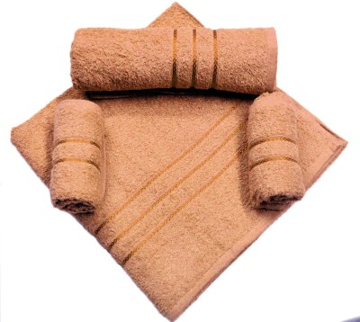 Bombay Dyeing Cotton Bath Towel, Hand Towel Set(Pack of 4, Brown)