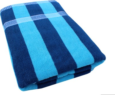 Mandhania Cotton Bath Towel(Blue)