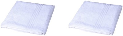 Trinity India Cotton Bath Towel(Pack of 2, White)