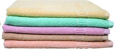 Earth Ro System Cotton Bath Towel(Pack of 5, Multicolor) at flipkart